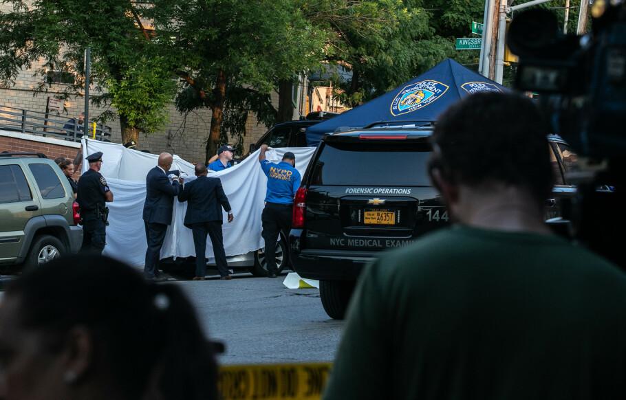 <strong>ÅSTEDET:</strong> Det var her den amerikanske fembarnsfaren Juan Rodriguez glemte tvillingbarna Phoenix og Luna i bilen, før han dro på jobb i The Bronx i New York. Åtte timer senere oppdaget han at barna var døde som følge av heteslag. FOTO: NTB Scanpix