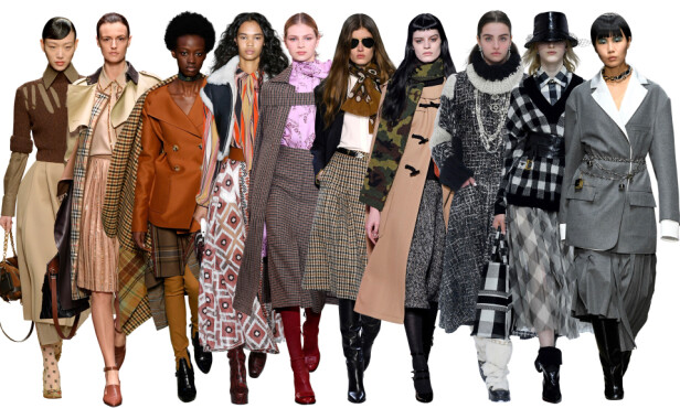 FRA CATWALKEN: Fendi, Burberry, Lanvin, Longchamp, Victoria Beckham, Celine, Miu Miu, Chanel, Dior og Marni. Foto: Scanpix