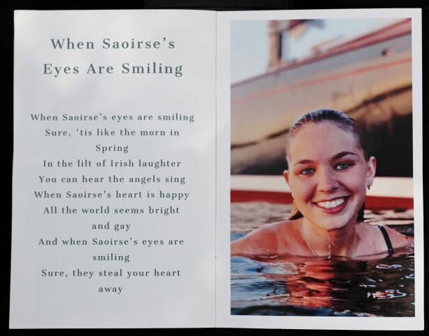 MINNETEKST: Saoirse Kennedy Hill ble bare 22 år. FOTO: NTB Scanpix