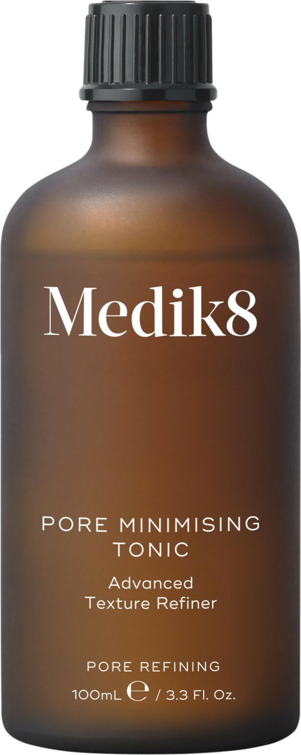 Dyptrensende tonic med mandelsyre og melkesyre (kr 480, Medik8, Pore Minimising Tonic). FOTO: Produsenten