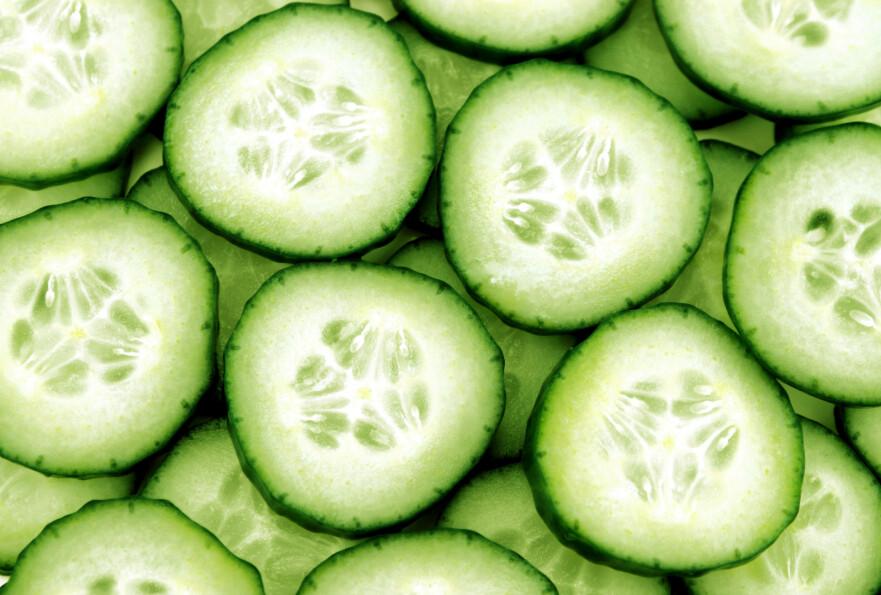 AGURK: Det finnes flere helsemessige fordeler ved agurken. Foto: Scanpix