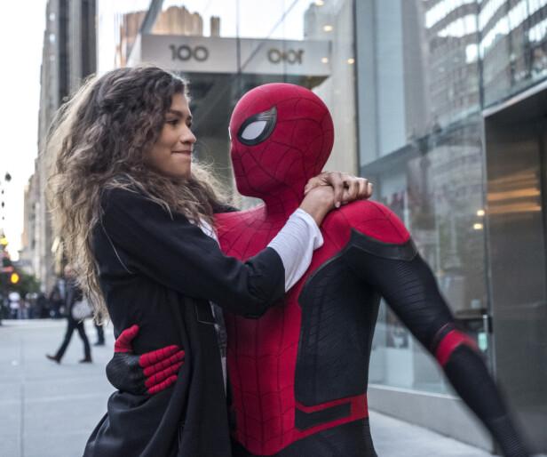 SPIDER-MAN: Zendaya (t.v.) har en av rollene i de nyeste Spider-Man-filmene. Foto: Scanpix