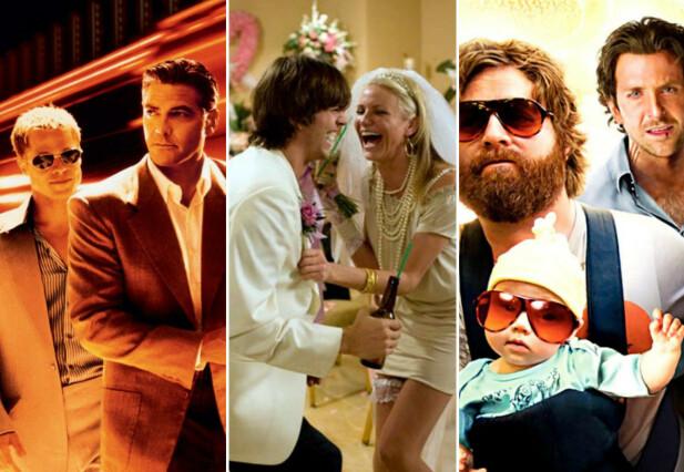 SIN CITY: «Ocean's Eleven», «What Happens in Vegas» og «The Hangover» er tre av utallige filmer som er laget med det pulserende livet i Las Vegas som bakteppe. FOTO: Skjermdump