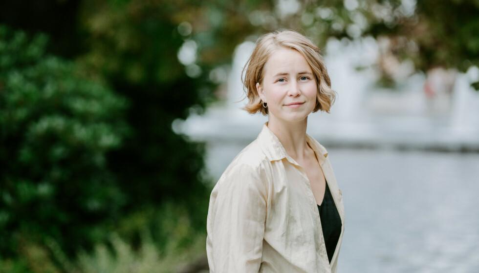 OPPFORDRER IKKE TIL BIRTH STRIKE: Leder i Framtiden i våre hender, Anja Bakken Riise, mener det finnes andre metoder for å løse klimaproblemene. FOTO: Renate Madsen