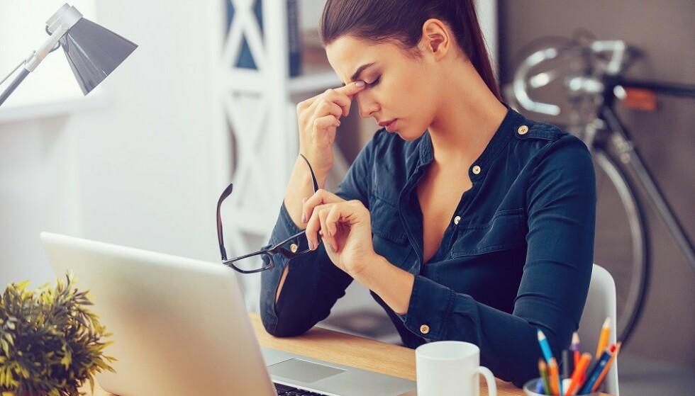 STRESS: Negative følelser og stress kan øke opplevelsen av smerte. FOTO: NTB Scanpix