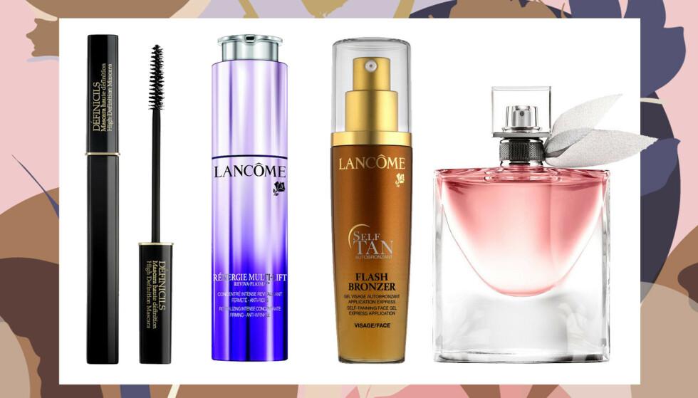 Som innlogget KK-bruker eller abonnent får du 30 % på disse eksklusive produktene fra Lancôme! FOTO: Produsentene