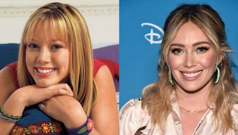 DA OG NÅ: Lizzie som 13 og Hillary Duff som 31. Søtnoser begge to. Foto: Disney/NTB Scanpix
