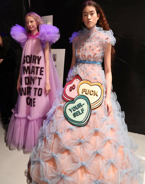 Kjolene fra Viktor&Rolfs forrige kolleksjon fikk ikke overraskende massiv oppmerksomhet. FOTO: NTB/Scanpix