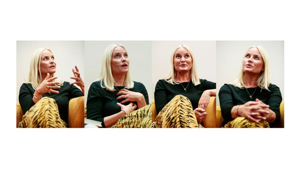 AMBASSADØR: For kronprinsesse Mette-Marit har det vært viktig å fremme den norske litteraturen. Denne høsten legger hun ut på litteraturtog-turné i Tyskland, i forbindelse med Bokmessen i Frankfurt. Her fra lanseringen av antologien i september. FOTO: NTB Scanpix