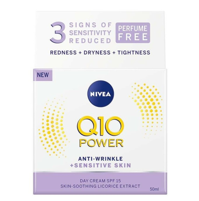 Dagkrem | NIVEA | https://www.nivea.no/produkter/q10-power-anti-wrinkle-plusfirming-nourishing-day-cream-4005808918959006863.html?utm_source=kk&utm_medium=native&utm_campaign=NO_C204_NIV_Face_Q10Care
