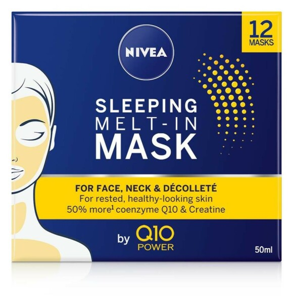 Maske | NIVEA | https://www.nivea.no/produkter/nivea-q10-power-sleeping-melt-in-mask-4005900591043006863.html?utm_source=kk&utm_medium=native&utm_campaign=NO_C204_NIV_Face_Q10Care