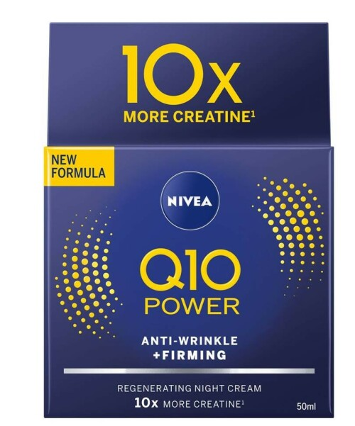 Nattkrem | NIVEA | https://www.nivea.no/produkter/q10-power-anti-wrinkle-plusfirming-regenerating-night-cream-4005808918966006863.html?utm_source=kk&utm_medium=native&utm_campaign=NO_C204_NIV_Face_Q10Care