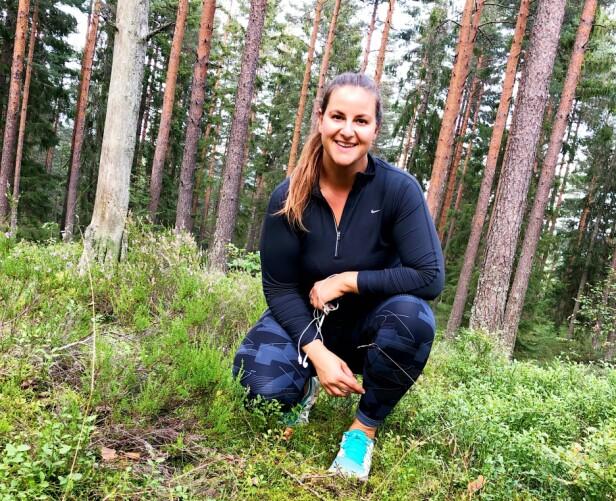 LØPEGLEDE: KKs journalist Malini Gaare Bjørnstad skal løpe 10 km for aller første gang under KKmila i september. FOTO: Privat