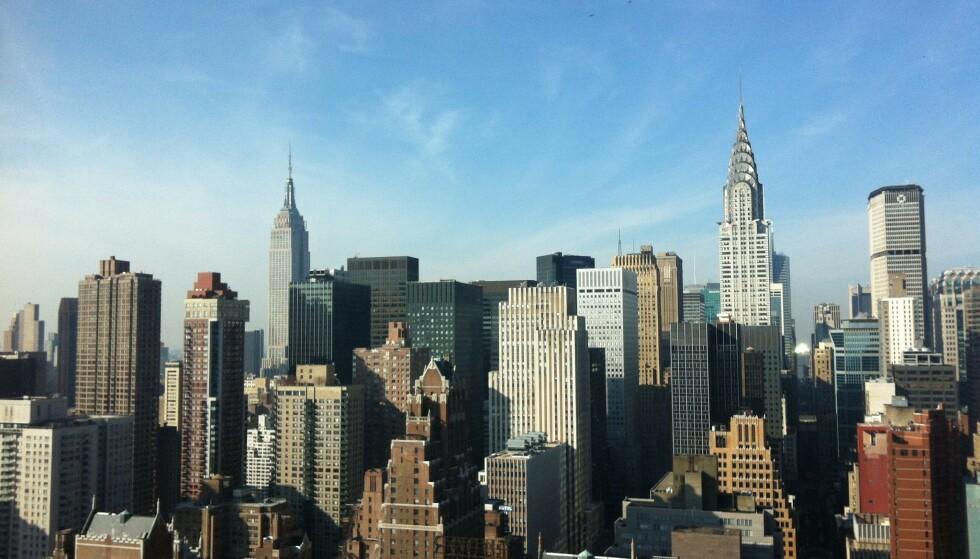 NICE DAY AT THE OFFICE: Gunhilde bodde i New York i to år, som juniorekspert til FN og jobbet med Kongo. – Jeg bodde East Village på Manhattan mens FN-bygningen var under oppussing, og jobbet på Madison Avenue. Det er ganske spennende å gå på møter i sikkerhetsrådet. FOTO: Privat