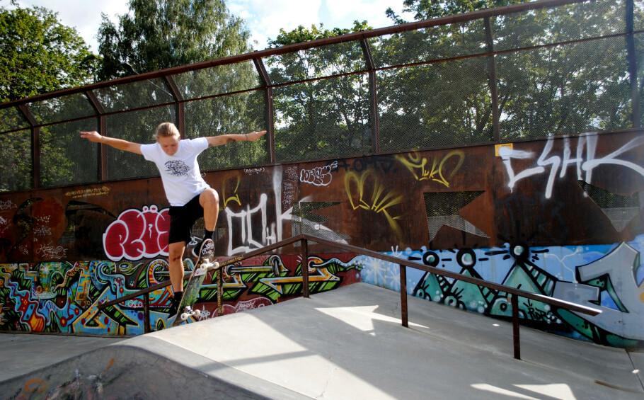 FORNØYELSESPARK: Skateparken fungerer som Tonje Pedersens fristed. Foto: Aleksandra Brillanti