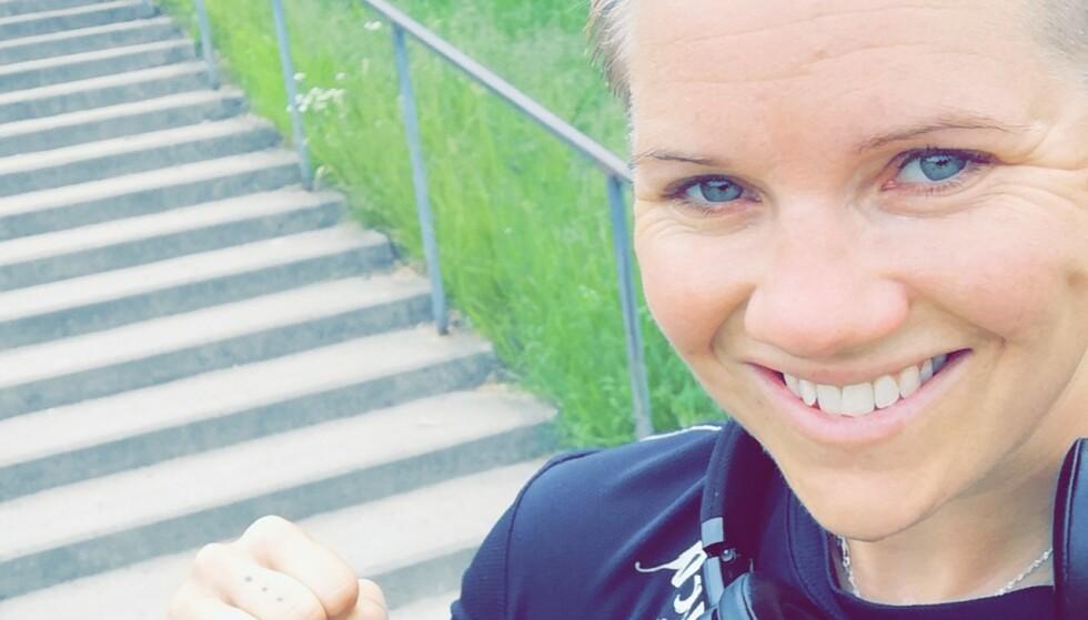 TRENING HJELPER: For Marianne ble redningen å trene og være fysisk aktiv. Foto: Privat.