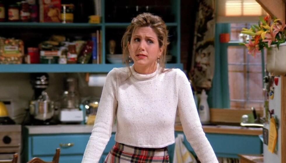 GJENNOMBRUDDET: Jennifer Aniston ble kjendis over natten etter at hun kapret rollen som sjarmerende Rachel Green i «Friends». FOTO: NBC