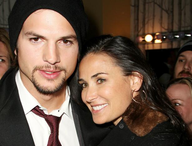 DEN GANG DA: Ashton Kutcher er 15 år yngre enn Demi Moore. De var gift i perioden 2005 til 2013. FOTO: NTB Scanpix