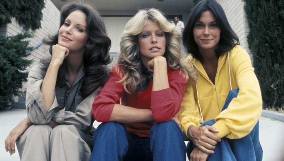 """Jaclyn Smith, Farrah Fawcett og Kate Jackson ble kvinnene """"alle"""" ville se ut som på slutten av 70-tallet."""