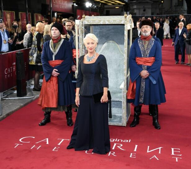 STRÅLER: Helen Mirrens nye serie Catherine the Great har snart premiere på HBO. Foto: Scanpix