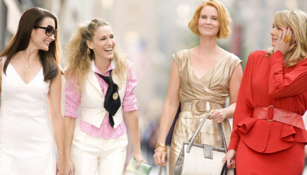 SEIER: Kristin Davis (t.v.), Sarah Jessica Parker, Cynthia Nixon og Kim Cattrall (t.h.) har gitt oss en skikkelig Manhattan-vibe FOTO: Scanpix