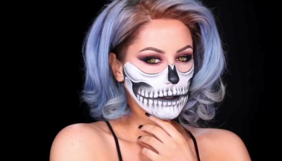 HALLOWEEN: Gjør deg klar til halloweenfest med skummel sminke! FOTO: skjermdump youtube
