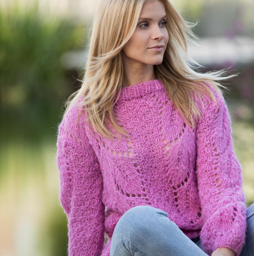 ROSA SLØYFE COLLECTION: Norma genser i børstet alpakka blend. FOTO: Wenche Hoel-Knai