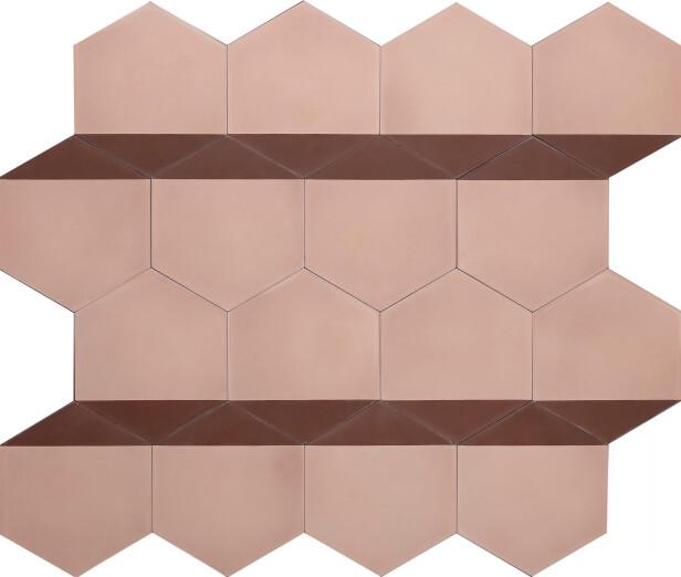 Heksagonal flis av Claesson Koivisto Rune (kr 1550 per kvm, Marrakech Design). FOTO: Produsenten