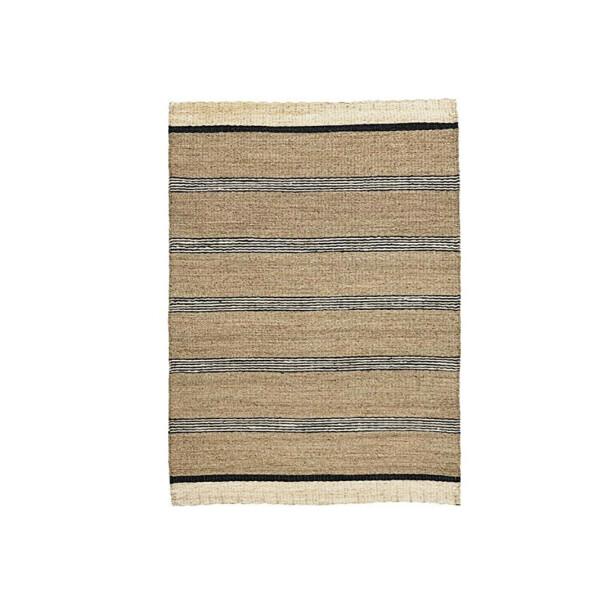 Stripet i sjøgress, 220×150 cm (kr 1500, House Doctor). FOTO: Produsenten