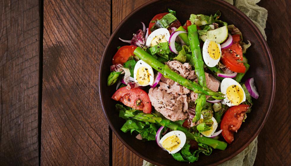 SALAT: Tunfisk kan brukes til mye - blant annet i deilige salater. FOTO: NTB Scanpix
