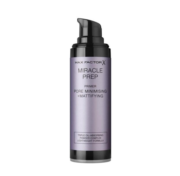Miracle Prep Mattifying + Pore Minimising reduserer synligheten av porer, matter ned huden og gjør at sminken holder hele dagen.