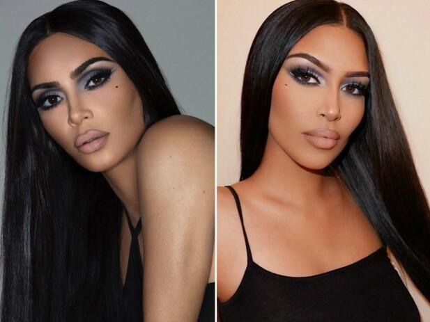 TO DRÅPER VANN: Kim Kardashian til venstre, Sonia Ali til høyre. FOTO: Instagram