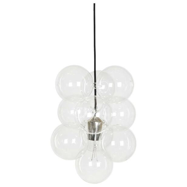 DIY-lampe med glasskuler (kr 870, House Doctor). FOTO: Produsenten