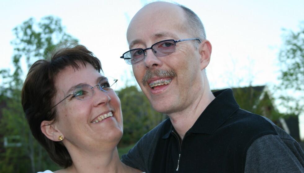EKTEPAR: Her hadde Torill og Jan vært gift i noen år, og sykdommen var foreløpig ikke så synlig. FOTO: Privat