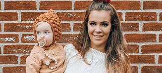 Sara Emilie hylgråt av sitt første strekkmerke