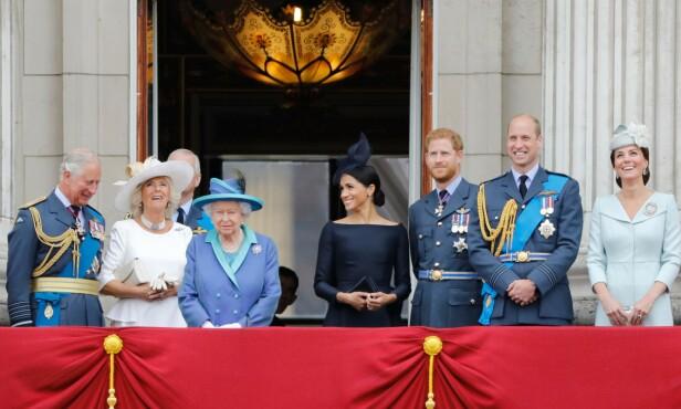 <strong>KONGEFAMILIEN:</strong> Meghan erkjenner at det ikke har vært helt enkelt å bli en del av den britiske kongefamilien - og samtidig et yndet objekt for paparazzi-pressen. Her fra Buckingham Palace i juli 2018. FOTO: NTB scanpix