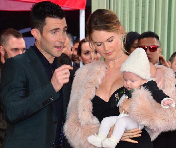 Barna til Adam Levine og Behati Prinsloo heter Dusty Rose og Geo Grace. Foto: NTB Scanpix
