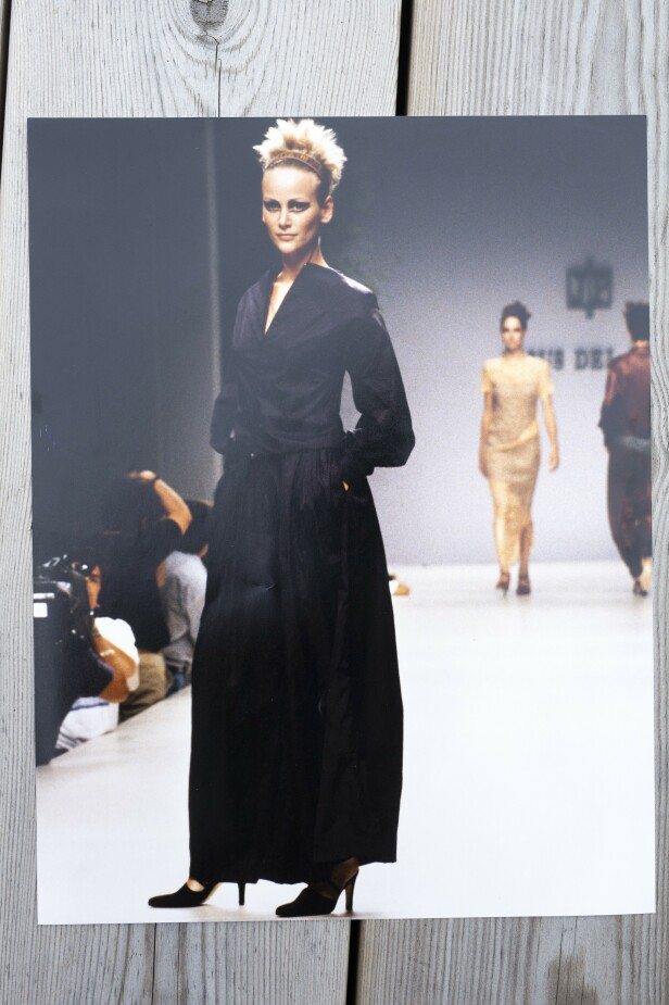 Et av høydepunktene i modellkarrieren var da Cathrine åpnet moteuken i Madrid på midten av 90-tallet.