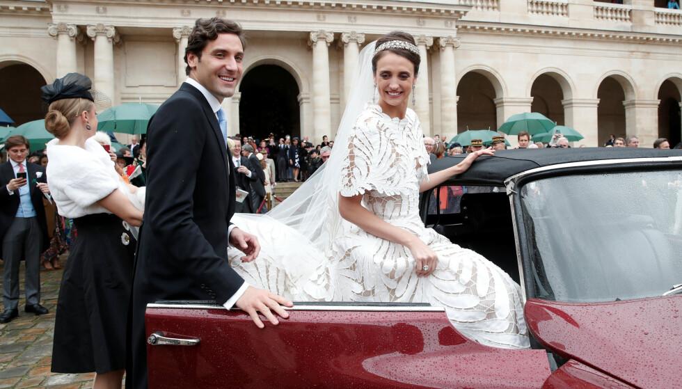 STRÅLER: Grevinne Olympia von und zu Arco-Zinnerberg fikk all oppmerksomhet i denne nydelig kjolen fra Oscar de la Renta. Foto: NTB Scanpix
