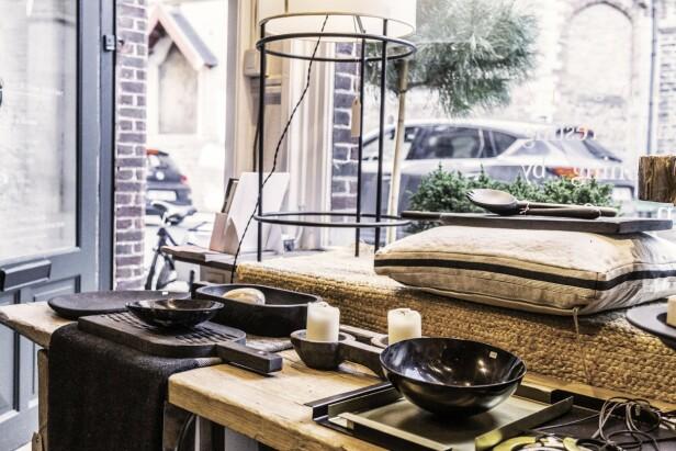 Hos Serendipity finner du mye fin keramikk, kurver og puter og slikt. FOTO: Mikkel Bækgaard