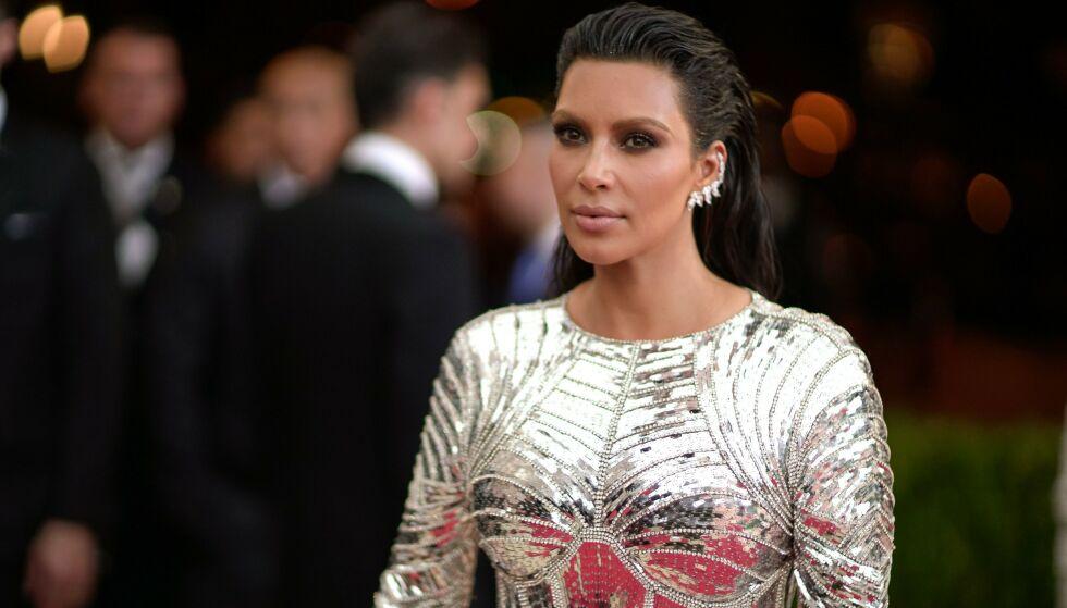 TRE ÅR SIDEN: Slik så det ut da Kim Kardashian tolket temaet «Manus x Machina: Fashion In An Age Of Technology» i 2016. FOTO: NTB Scanpix