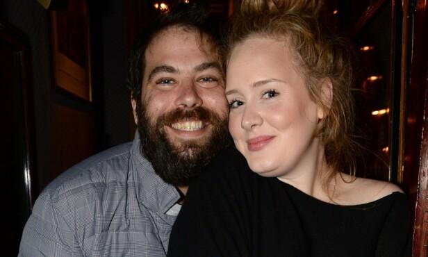 <strong>BRUDD:</strong> Under ett år etter at de giftet seg, var det over for Adele og Simon Konecki. FOTO: NTB scanpix