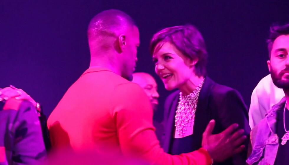 <strong>BRUDD:</strong> Katie Holmes og Jamie Foxx holdt forholdet hemmelig i lang tid, men under 50-årslaget hans i desember 2017 klarte de ikke lenger å skjule kjærligheten. FOTO: NTB scanpix