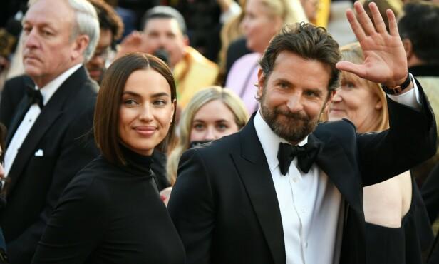 BRUDD: Skuespiller Bradley Cooper og supermodell Irina Shayk under Oscar-utdelingen i februar. Noen måneder senere var bruddet et faktum. FOTO: NTB scanpix
