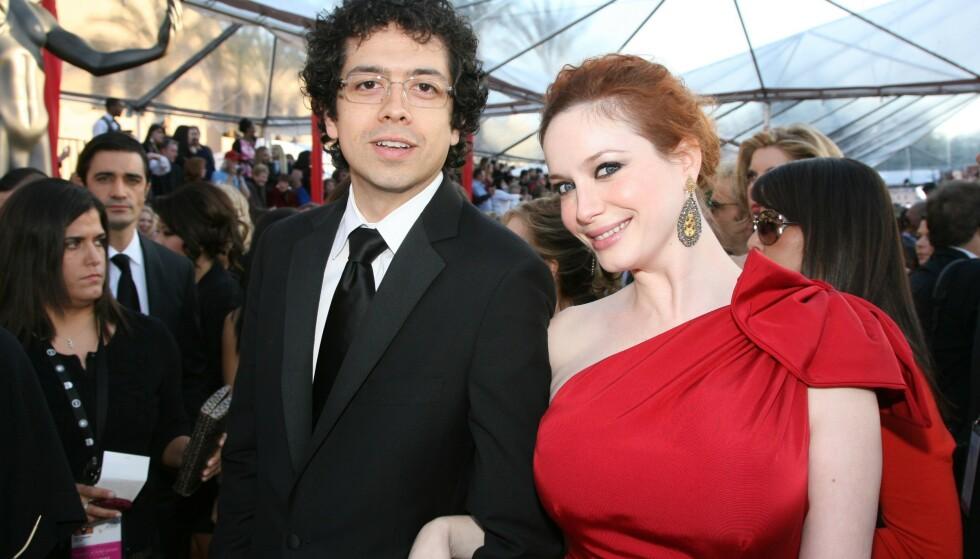 <strong>BRUDD:</strong> Mad Men-stjernen Christina Hendricks og skuespiller Geoffrey Arend tok denne høsten ut skilsmisse etter 10 års ekteskap. FOTO: NTN scanpix