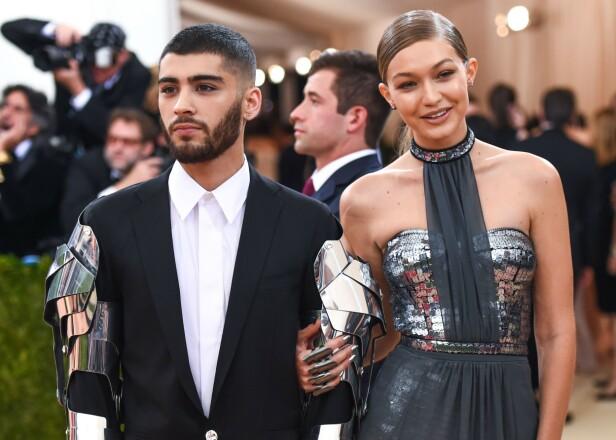 <strong>BRUDD:</strong> I januar 2019 var det over for kjendisparet Gigi Hadid og Zayn Malik. Her fra Met-gallaen i 2016. FOTO: NTB scanpix