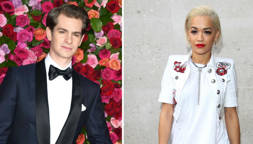 BRUDD: Etter fire måneder var flørten mellom Rita Ora og Andrew Garfield over i mars 2019. FOTO: NTB scanpix