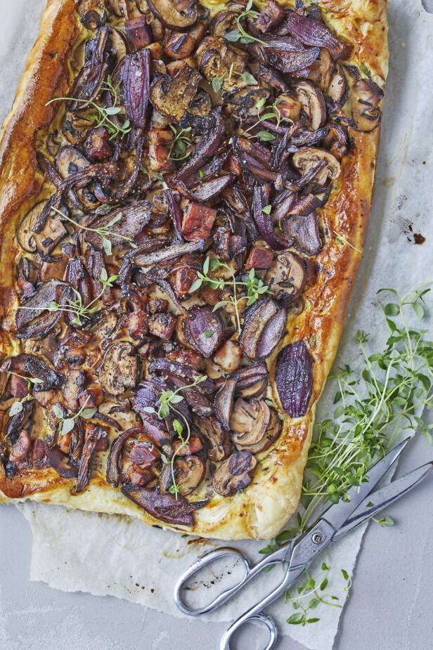 Pizzaen får smak av høstens grøde, og bruk gjerne skogsopp hvis du har plukket det. FOTO: Winnie Methmann