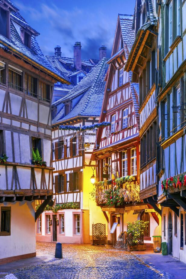 Hus i bindingsverk er et av kjennetegnene på Strasbourg i Alsace. FOTO: NTBScanpix