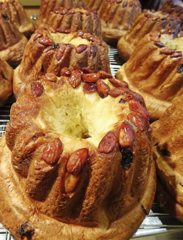 Gugelhupf er blant de utallige kakene du kan få kjøpt. FOTO: Hanne Høiberg